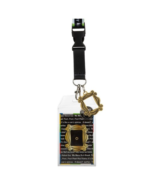 FRIENDS QUOTE TAPING FRAME PRINTED LANYARD