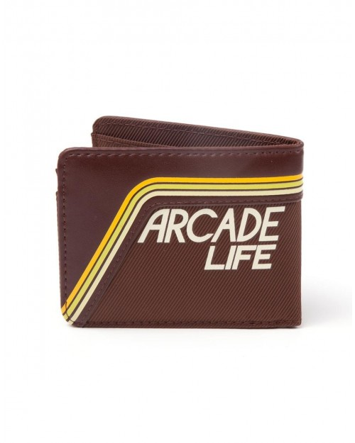 OFFICIAL ATARI 70S BROWN ARCADE LIFE RETRO WALLET