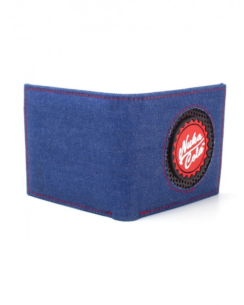 OFFICIAL BETHESDA FALLOUT 76 NUKA COLA BOTTLE CAP DENIM STYLED WALLET