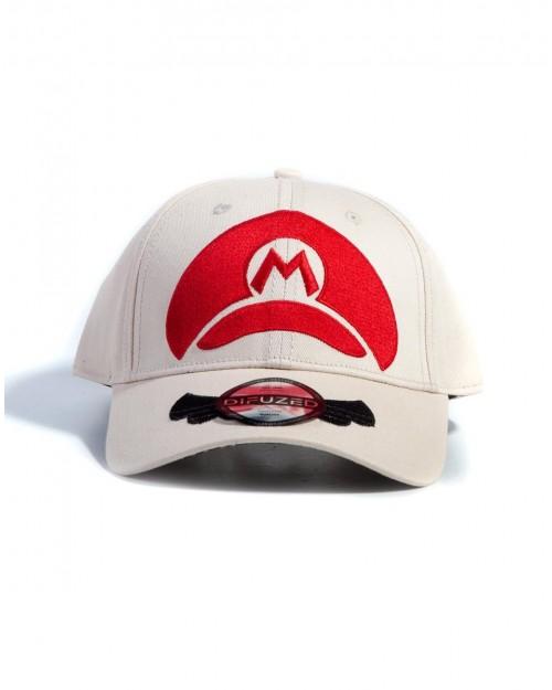 NINTENDO SUPER MARIO BROS MARIO HAT BEIGE STRAPBACK BASEBALL CAP