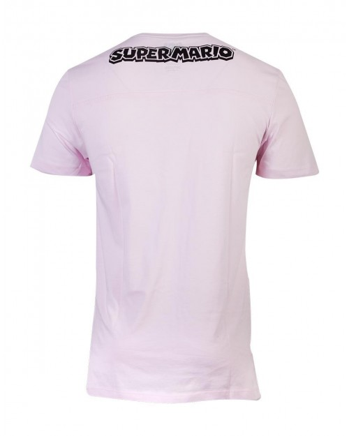 SUPER MARIO BROS BOWSER KING OF THE KOOPAS PINK UNISEX T-SHIRT