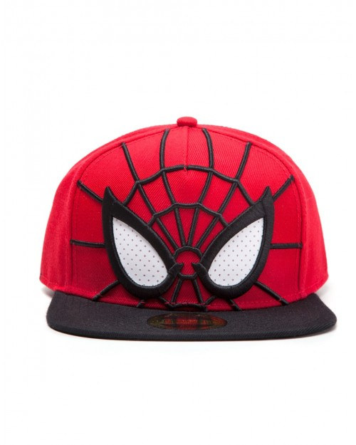 OFFICIAL MARVEL COMICS SPIDER-MAN EYES COSTUME SNAPBACK CAP