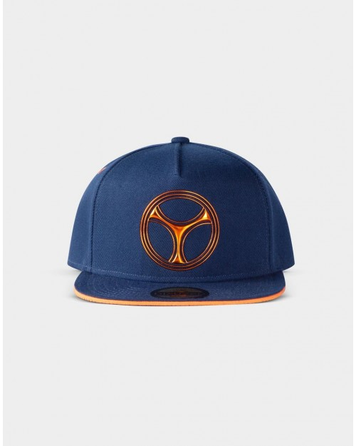 MARVEL COMICS BLACK WIDOW - TASKMASTER SYMBOL BLUE SNAPBACK CAP