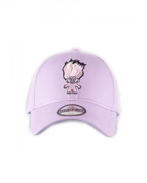 TROLLS RAINBOW TROLL EMBROIDERED PINK STRAPBACK BASEBALL CAP