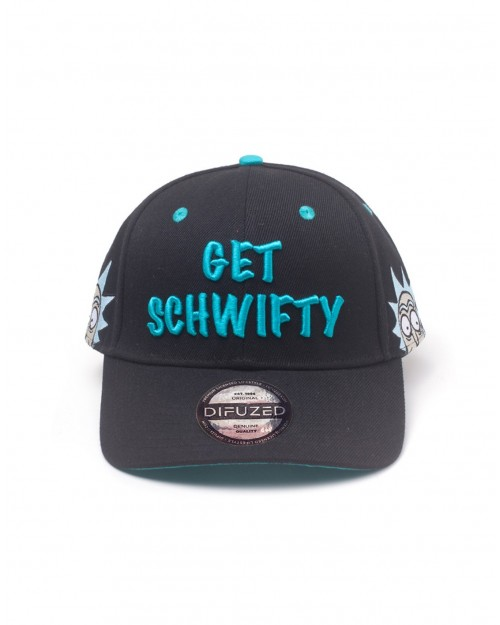 RICK AND MORTY - RICK 'GET SCHWIFTY' BLACK SNAPBACK BASEBALL CAP