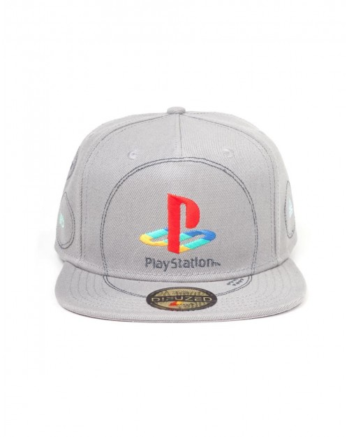 SONY PLAYSTATION 1 (PS1) CONSOLE STYLED GREY SNAPBACK CAP
