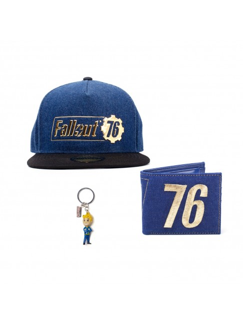 FALLOUT 76 BUNDLE - HAT, WALLET AND KEYRING
