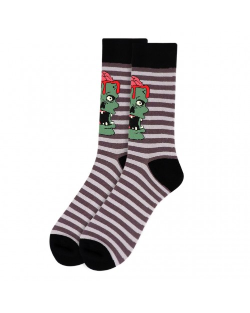 ZOMBIE BRAIN ALL OVER STYLE PAIR OF NOVELTY SOCKS