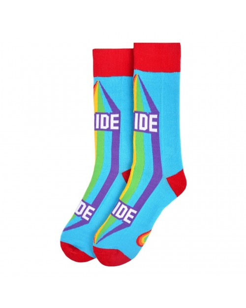 RAINBOW PRIDE ALL OVER STYLE PAIR OF NOVELTY SOCKS