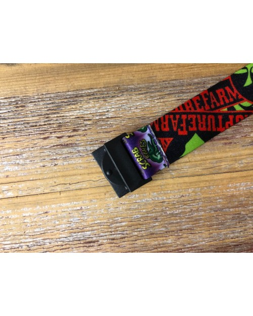 ODDWORLD FOOD POSTERS (Meech Munchies, Scrab cakes, Paramite Pie ect) ALL OVER PRINT LANYARD BY TOTALLY TUBULAR