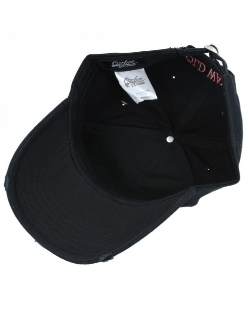 CARBON 212 - OLD WAYS WON'T OPEN NEW DOORS BLACK DISTRESSED BASEBALL CAP
