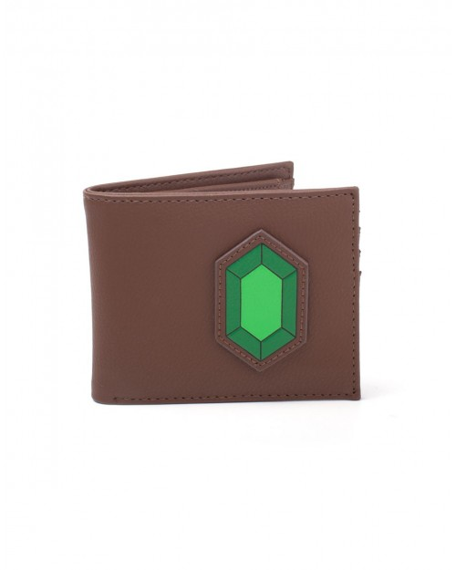 NINTENDO THE LEGEND OF ZELDA RUPEE MAGNIFICENT GEMS BROWN BI-FOLD WALLET