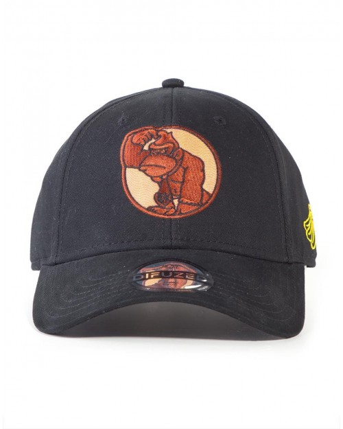 NINTENDO DONKEY KONG SCRATCHING HEAD BLACK STRAPBACK BASEBALL CAP