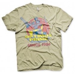 OFFICIAL TRANSFORMERS OPTIMUS PRIME RETRO DISTRESSED PRINT KHAKI T-SHIRT
