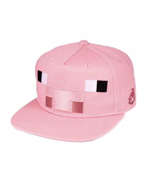 OFFICIAL MINECRAFT - PIG PINK SNAPBACK CAP