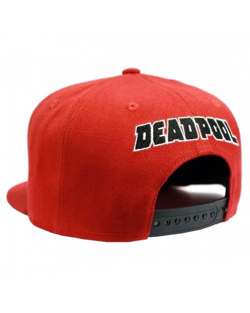 OFFICIAL MARVEL COMICS - DEADPOOL EYES RED SNAPBACK CAP