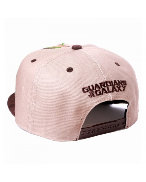 OFFICIAL GUARDIANS OF THE GALAXY VOL. 2 - BABY GROOT FACE BROWN SNAPBACK CAP