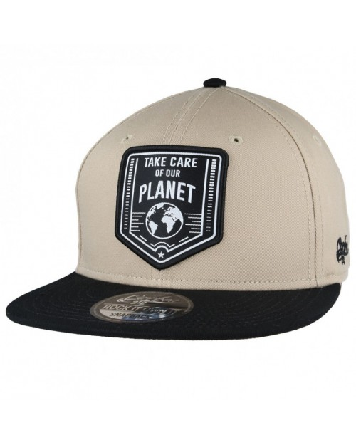 CARBON 212 - TAKE CARE OF OUR PLANET BEIGE SNAPBACK CAP