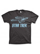 STAR TREK ENTERPSISE NCC-1701 STARFLEET PRINT BLACK T-SHIRT