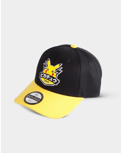 NINTENDO POKEMON PIKACHU TEAM BLACK SNAPBACK BASEBALL CAP