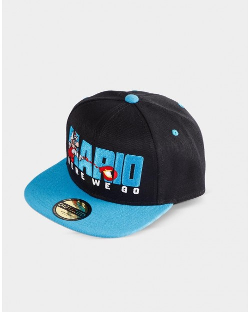 NINTENDO SUPER MARIO BROS FIRE MARIO 'HERE WE GO' SNAPBACK CAP