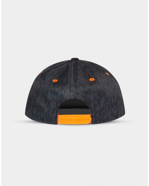 NARUTO SHIPPUDEN LEAF SYMBOL ALL OVER SHAPES BLACK SNAPBACK CAP