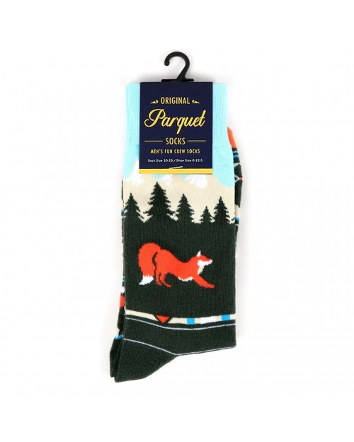 WILD FOX MOUNTAINS ALL OVER STYLE PAIR OF NOVELTY SOCKS