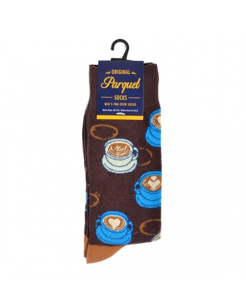 COFFEE CUPS ALL OVER STYLE PAIR OF NOVELTY SOCKS