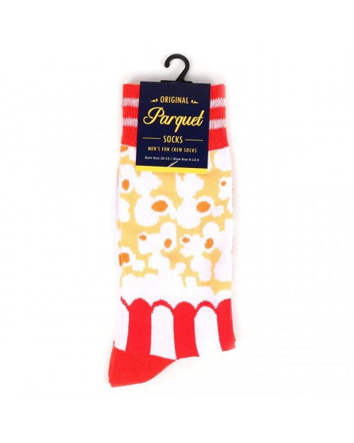 POPCORN ALL OVER STYLE PAIR OF NOVELTY SOCKS