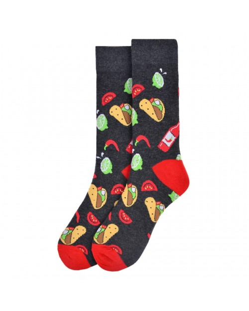 TACOS ALL OVER STYLE PAIR OF NOVELTY SOCKS