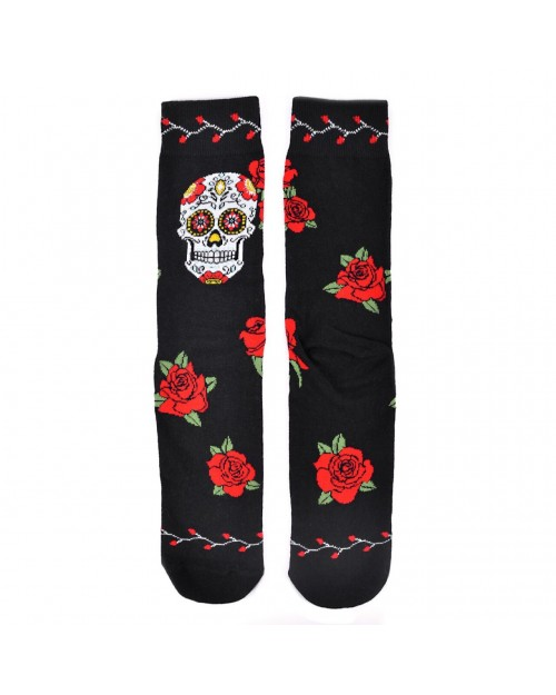 SUGAR SKULL ALL OVER STYLE PAIR OF NOVELTY SOCKS