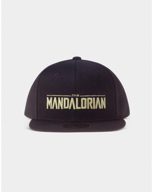 STAR WARS THE MANDALORIAN SILLHOUETTE LOGO BLACK SNAPBACK CAP