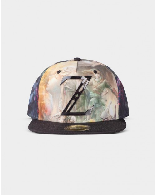 THE LEGEND OF ZELDA 'Z' LINK ALL OVER PRINT SNAPBACK CAP