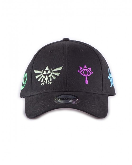THE LEGEND OF ZELDA TRI-FORCE/ SYMBOLS BLACK & BROWN SNAPBACK CAP