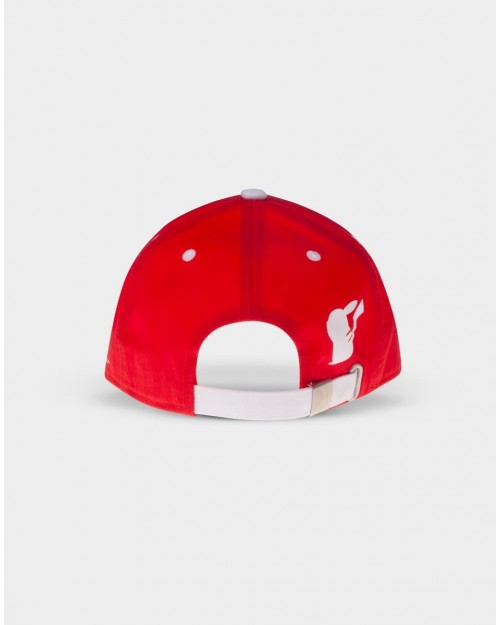 NINTENDO POKEMON POKEBALL RED STRAPBACK BASEBALL CAP