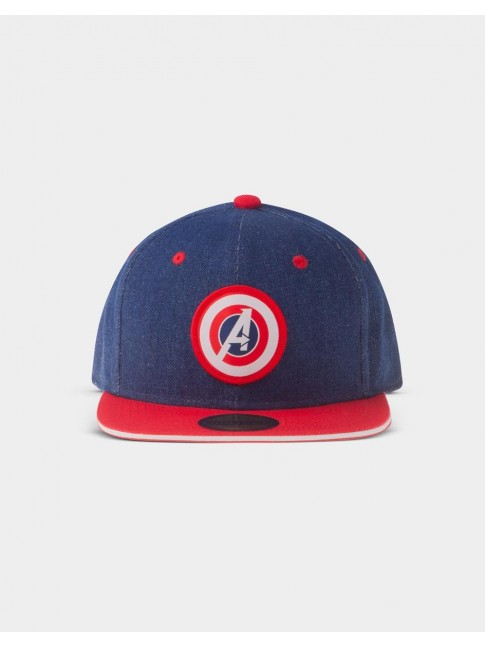 MARVEL COMICS AVENGERS GAME SHIELD 'A' DENIM STYLED SNAPBACK BASEBALL CAP