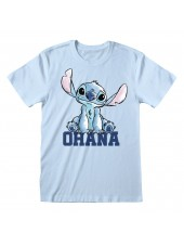 DISNEY LILO AND STITCH OHANA BLUE T-SHIRT