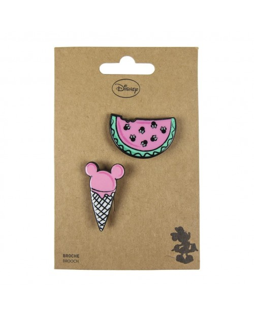 DISNEY MINNIE MOUSE ICE CREAM AND WATERMELON BROUCH BADGE