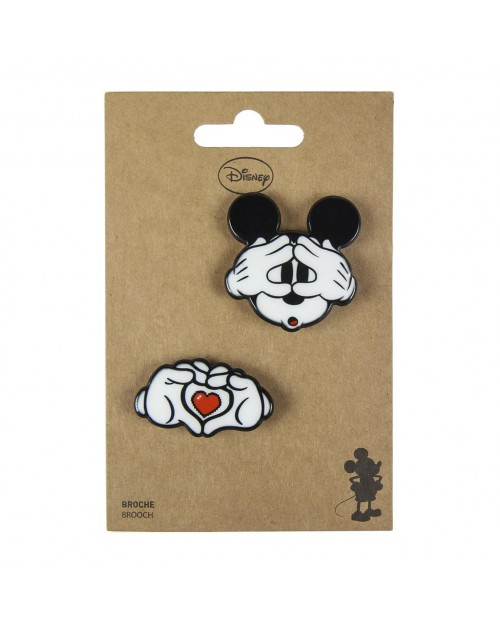 DISNEY MICKEY MOUSE IN LOVE BROUCH BADGE