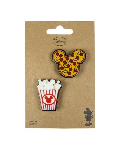 DISNEY MICKEY MOUSE CHUNK FOOD BROUCH BADGE