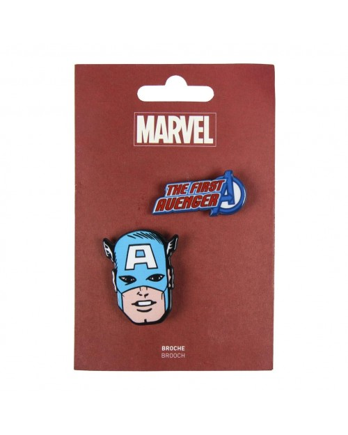 MARVEL COMICS THE FIRST AVENGER CAPTAIN AMERICA BROOCH BADGE