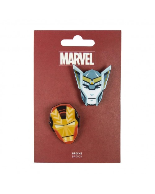 MARVEL COMICS IRON MAN & THOR BROOCH BADGE