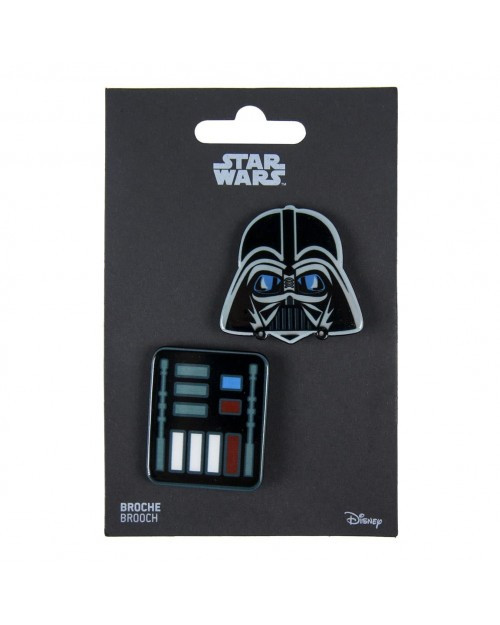 STAR WARS DARTH VADER MASK AND SUIT BROOCH BADGE