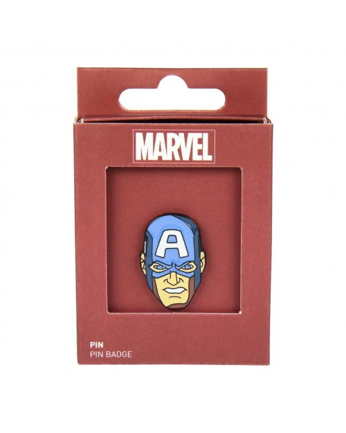 MARVEL COMICS CAPTAIN AMERICA FACE/MASK METAL PIN BADGE