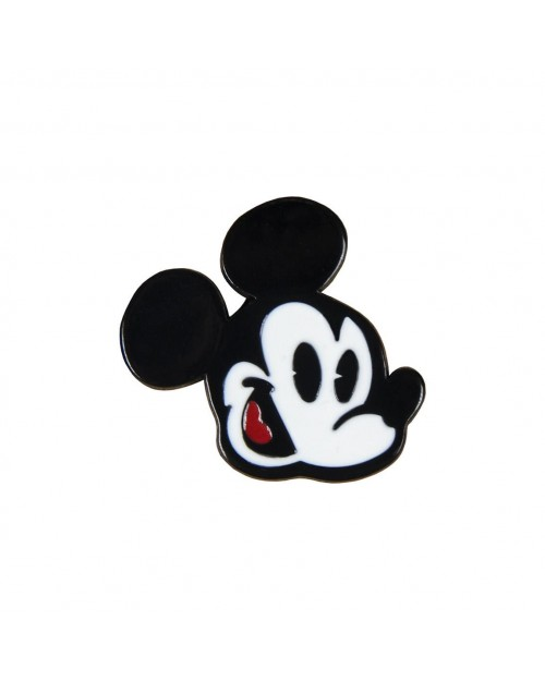 DISNEY MICKEY MOUSE FACE METAL PIN BADGE