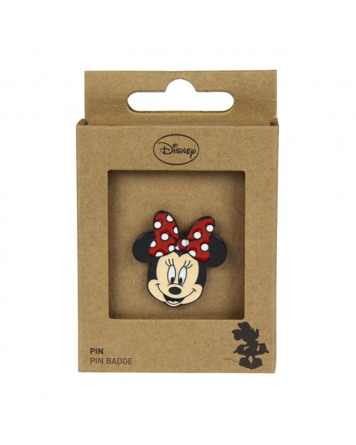 DISNEY MINNIE MOUSE FACE METAL PIN BADGE