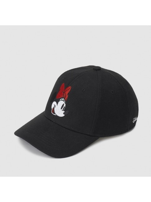 DISNEY MINNIE MOUSE FACE BLACK SNAPBACK BASEBALL CAP