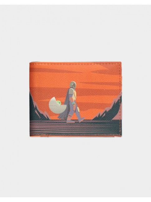 STAR WARS THE MANDALORIAN AND THE CHILD PLANET BI-FOLD WALLET
