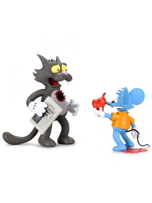 KIDROBOT x The SIMPSONS ITCHY AND SCRATCHY VINYL ART FIGURE