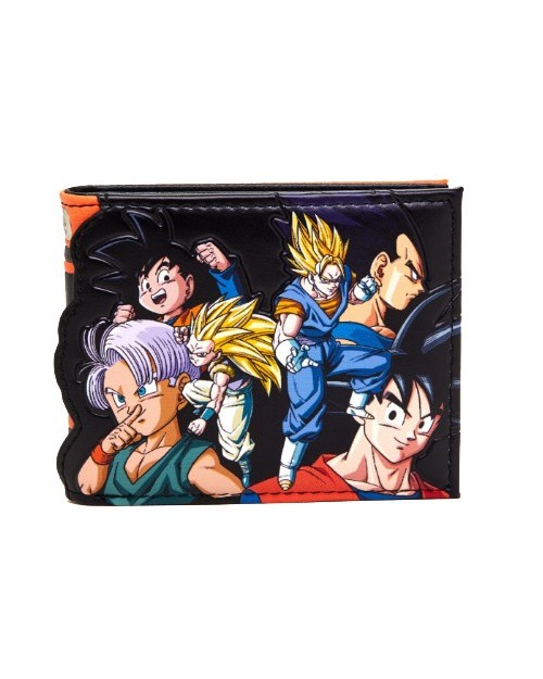 OFFICIAL DRAGON BALL Z CHARACTERS PRINTED BLACK AND ORANGE PU WALLET
